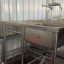 達慶餐飲設備 八里展示倉庫 二手設備 又水槽左平台(垃圾孔)附龍頭