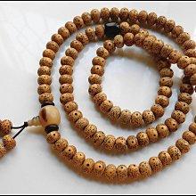 【雅之賞 佛教 藏傳文物】特賣*陳年海南10mm星月菩提A+正月高密喇叭孔108顆佛珠 實物拍攝~111705