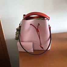 LV M54370 NÉONOÉ超美粉紅色EPI皮質水桶包