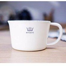 鄉村雜貨小市集*zakka 日雜款白底皇冠琺瑯量杯量筒 廚房工具 500ML