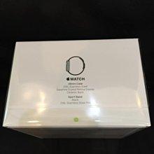 ^_^東京直遞 日本 Apple watch 38mm不鏽鋼版 黑色運動錶帶 藍寶石鏡面14900元就賣