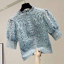 【2A Two】好美呀☺️5色質感花紋蕾絲短袖上衣『BC00045』蕾絲衫。綠/白/粉/藍現貨