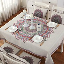 MSJ 北歐棉麻餐桌巾 桌布 居家家飾 餐廳 咖啡廳 背景布 拍攝道具 加厚亞麻款 雅屏雀尾 85*85 現貨