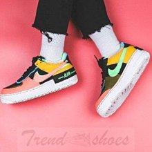 Nike W Air Force 1 Shadow 復古 低幫 拼接 加絨 粉紫 滑板鞋 CT1985-700 女鞋