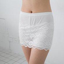 韓版 女 防走光帶3分平口內褲 襯裙 半身裙蕾絲 安全褲裙小百合美學內衣【M Z 7971】