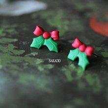 925純銀耳環-阪堂SAKADO-聖誕紅蝴蝶結