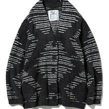 G426菱形條紋圖形 保暖 軟綿綿  男款 女款 情侶款 長袖外套  Gelato pique
