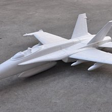 《TS同心模型》90mm F18 / F-18 大黃蜂白機 KIT版 + 五金配件 +35倍發泡