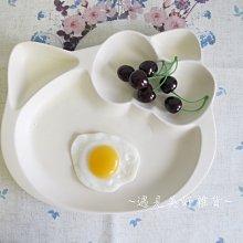 【遇見美好雜貨】A60102 童趣的Hello kitty 分格盤/早餐盤 /二色可選/米白色下標區