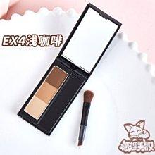進口日本KATE 3D三色立體眉粉 造型眉彩餅帶眉刷 棕色 造型眉彩餅