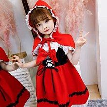 ����萬聖節 圣誕節 兒童小紅帽套裝 女童COSpaly服裝演出服童話演出衣服公主裙-搞機數碼3C