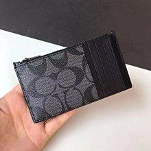COACH 最新款 32256 奧萊新款 拉鏈卡包 名片夾 零錢包 PVC拼牛皮