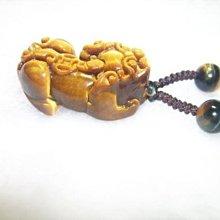 金鎂藝品【黃虎眼石貔貅*項鍊】可配情侶貔貅/開光是永久有效不必寄回/編號629