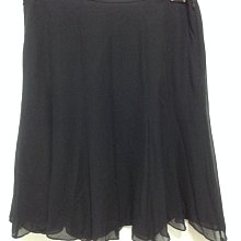 美國品牌ALFANI 黑色100%蠶絲 真絲 SILK 圓裙 A字裙 及膝裙 16W