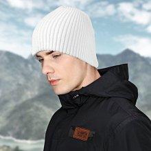 獨家專賣 嚴選針織毛帽 k123-1 粗條紋短款  白色款 台灣製  帽子專賣店