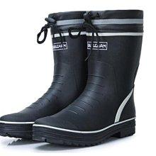 雨鞋男士中筒春夏透氣防水防滑雨靴水鞋套鞋釣魚鞋男束口橡膠單鞋海綿透氣內裏 環保橡膠 防滑鞋底