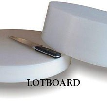LOTBOARD大師傅-NSF認證營業用白色圓形砧板(一體實心)50*9 cm(R-317W)