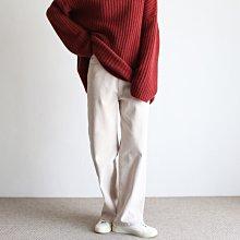 girlmonster 正韓 溫暖刷毛休閒彈性寬褲 ( 奶油/粉紅/咖啡/橄欖/米/黑)【A0633】