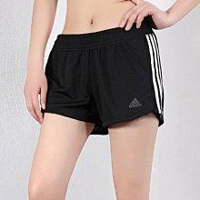 ※EP※ADIDAS PACER 3S KNIT 黑白 訓練 運動短褲 短褲 女款 DU3502