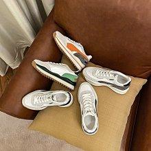 Fashion*運動鞋 港風休閑鞋 ins顯腳小厚底老爹鞋/跟高5CM 35-40碼 黑綠色 黑灰色 橙藍色