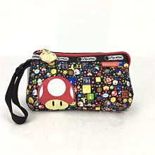 正品促銷 LeSportsac x Nintendo 8105 瑪麗歐 手掛繩多夾層化妝包 瑪利歐 任天堂 零錢包 收納包 降落傘防水 限量