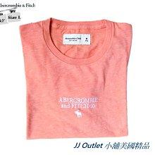 [JJ Outlet 小舖A&F特賣]100%真品全新Abercrombie&Fitch 立體繡字T-Shirt(L號)