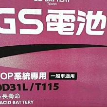 [新莊實體店面]~日本原裝進口 GS 怠速啟停 EFB 130D31L T-115 (125D31L T-110)