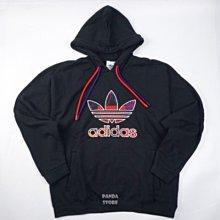 adidas 新年 長袖 連帽 帽t 雙抽繩 gp1865 黑 男