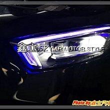 ※ 鑫立汽車精品 ※ 特價 CLA W117 18-20年 低階 升 高階 高亮款 LED總成大燈 三色 含啟動一抹藍