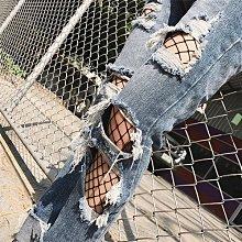 『現貨』美極了 鏤空性感十足 潮女 破牛仔褲必搭~網眼 防勾絲網格褲 漁網襪 褲襪【EB0015】- 崔可小姐