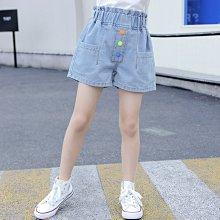 小圖藤童裝~~~中大童~~~女童牛仔褲短褲款夏装夏季女大童褲子(A2639)