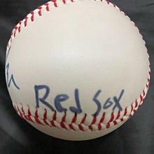 林子偉親筆簽名球高苑工商絕版紀念球早期簽法 加簽紅襪