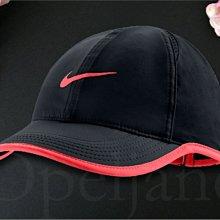 Nike  Hat Cap 耐吉輕薄 黑色棒球帽 網球帽 遮陽帽高爾夫球帽 可調整帽圍慢跑透氣 夏日防曬防紫外線帽子
