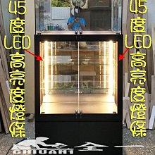 雙層玻璃櫃款 全一LED公仔櫃、燈條玻璃櫃、燈條展示櫃、手機櫃、精品櫃、飾品櫃、玻璃櫥櫃.模型櫃,眼鏡櫃,玩具櫃,樣品櫃