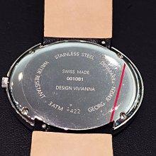 Georg Jensen Vivianna 黑色珍珠母貝鑽女錶真鑽女錶