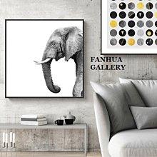 C - R - A - Z - Y - T - O - W - N 黑白抽象大象掛畫版畫極簡北歐掛畫商空室內設計裝飾掛畫