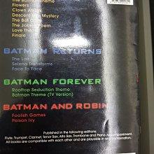 BATMAN 蝙蝠俠 flute 15首組曲 原版長笛譜 電影主題曲 330元 久放 沒畫過