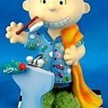 SNOOPY史努比 美國 西島WESTLAND8684 LINUS 刷牙小雕像 絕版品
