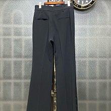 2019年秋冬 流行秀 fashion show 重磅雪紡  西裝長褲 褲腳開衩 摸起來霧霧的 (黑40)(楓葉🍁色系38/40)