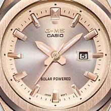 【威哥本舖】Casio原廠貨 Baby-G MSG-S500G-7A2 G-MS系列 簡約玫瑰金太陽能女錶