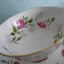 PARAGON粉紅玫瑰花骨瓷咖啡杯