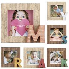 日本Ladonna Baby系列 木製英文字母 迷你2x3相框/ LB26-S2