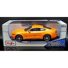 【M.A.S.H】[現貨瘋狂價] Maisto 1/18 Ford Mustang GT 2015 orange