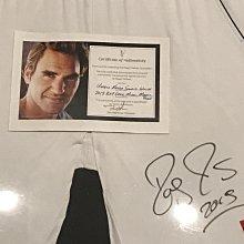 網球 費德勒 Roger Federer 瑞士特快車 費爸 親筆簽名褲 Uniqlo