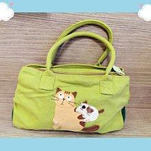 🏆【日本CARA卡拉貓】🏆卡拉貓精緻手提包純棉材質寬30*高20(不含提帶)*厚10cm