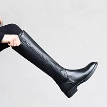 DANDT 真皮圓頭平底長靴 (Nov 18 B892) 同風格請在賣場搜尋 REG 或 歐美鞋款