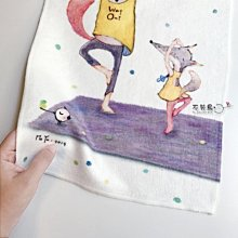 運動毛巾 小孩浴巾 陪你練瑜珈*不哭鳥