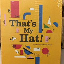 Thats My Hat 立體書便宜售出。很有設計感、也可當收藏用喔。