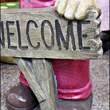 【現貨】鄉村風小熊welcome波麗娃娃 78cm高 民宿飯店門面 拍照打卡裝飾 居家庭院擺飾 。花蓮宇軒家飾家具。