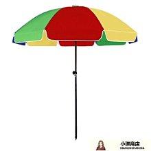 大號戶外遮陽傘擺攤傘大型雨傘地攤傘太陽傘崗亭傘雙層2.4米圓傘 QQ27875-LE小琳商店